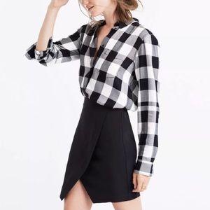 Madewell | Parkway 100% Silk Asymmetrical Skirt